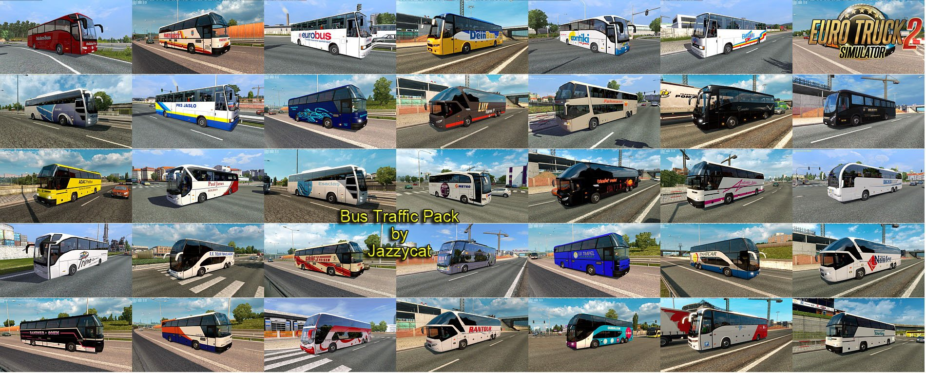 Bus Traffic Pack v2.7 by Jazzycat