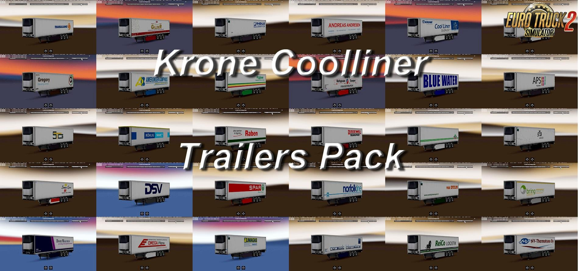 Trailers Pack Krone Coolliner for Ets2