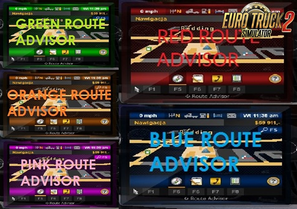 Route Advisor Colors for Ets2 [1.28.x]