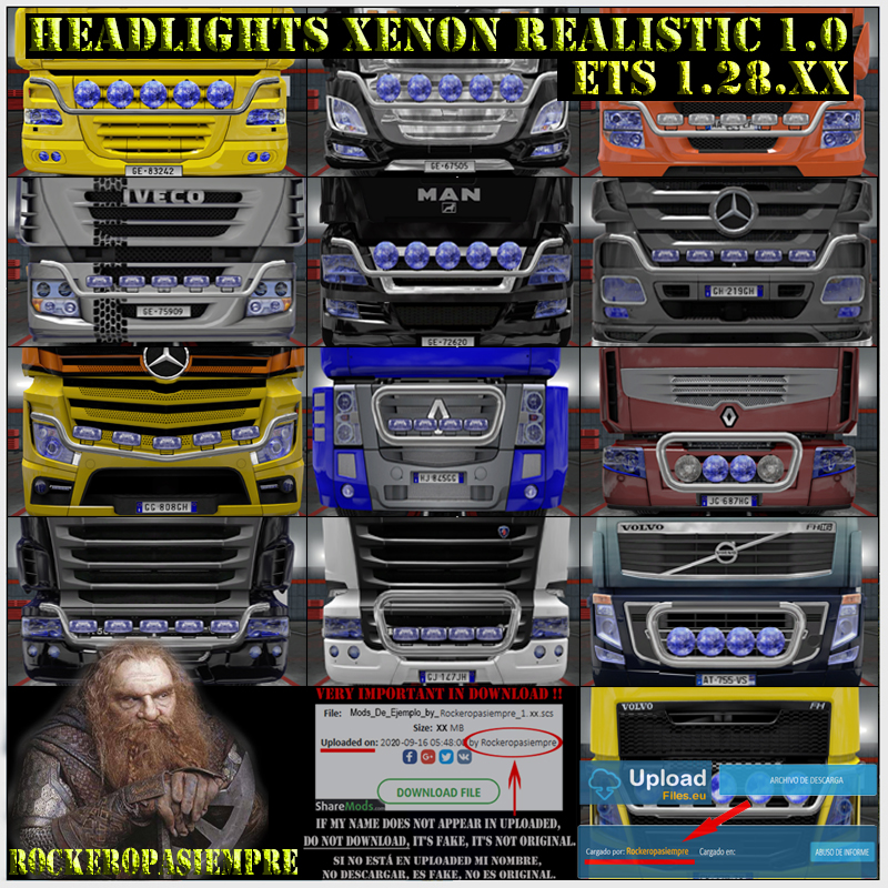 Headlights Xenon Realistic by Rockeropasiempre 1.0