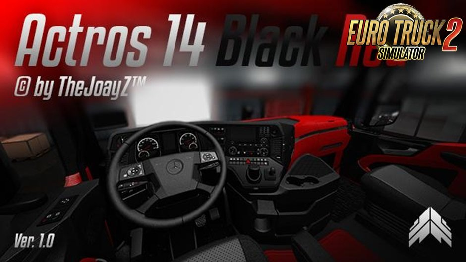 Actros 2014 Black Red Mod v1.0