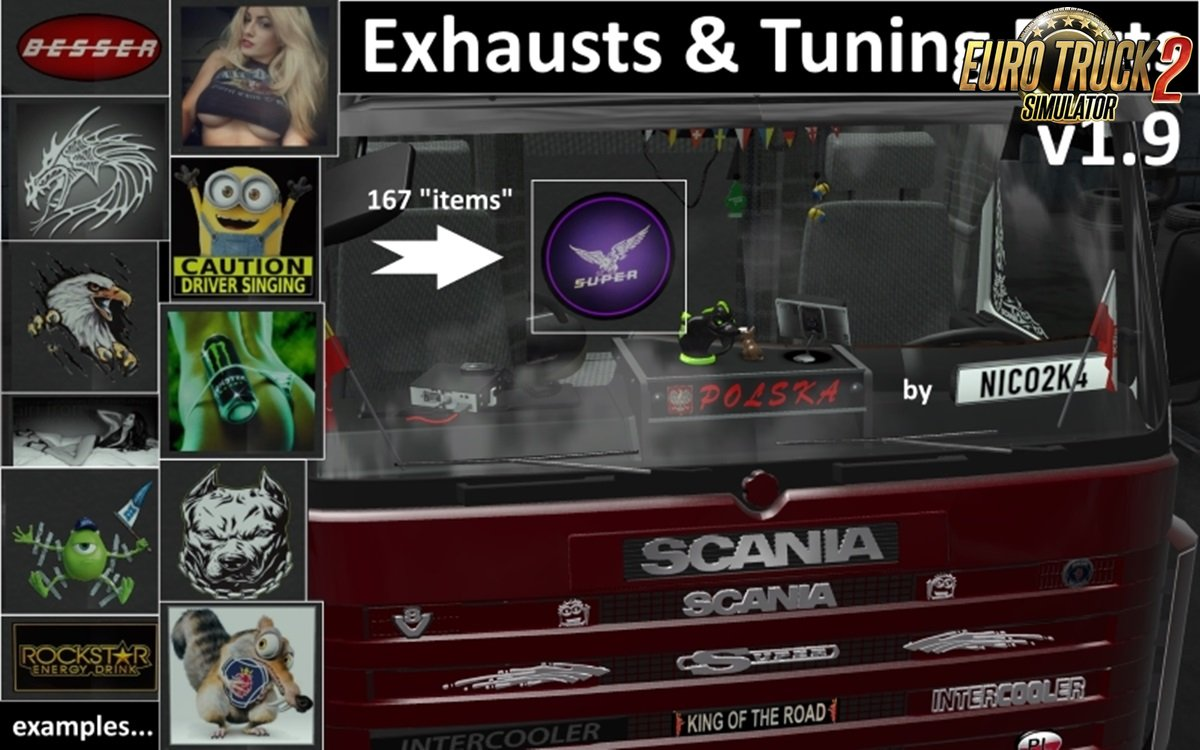 Exhausts and Tuning Parts for Trucks v1.9.1 by Nico2k4 [1.28.x]