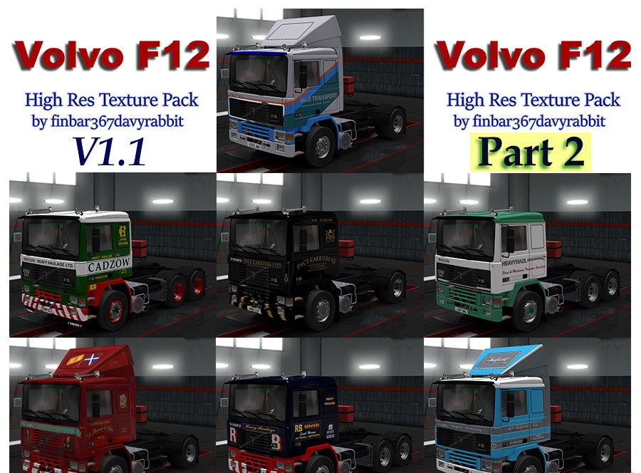 Volvo F12 Skins Pack Part 2 v1.1 (1.28.x)