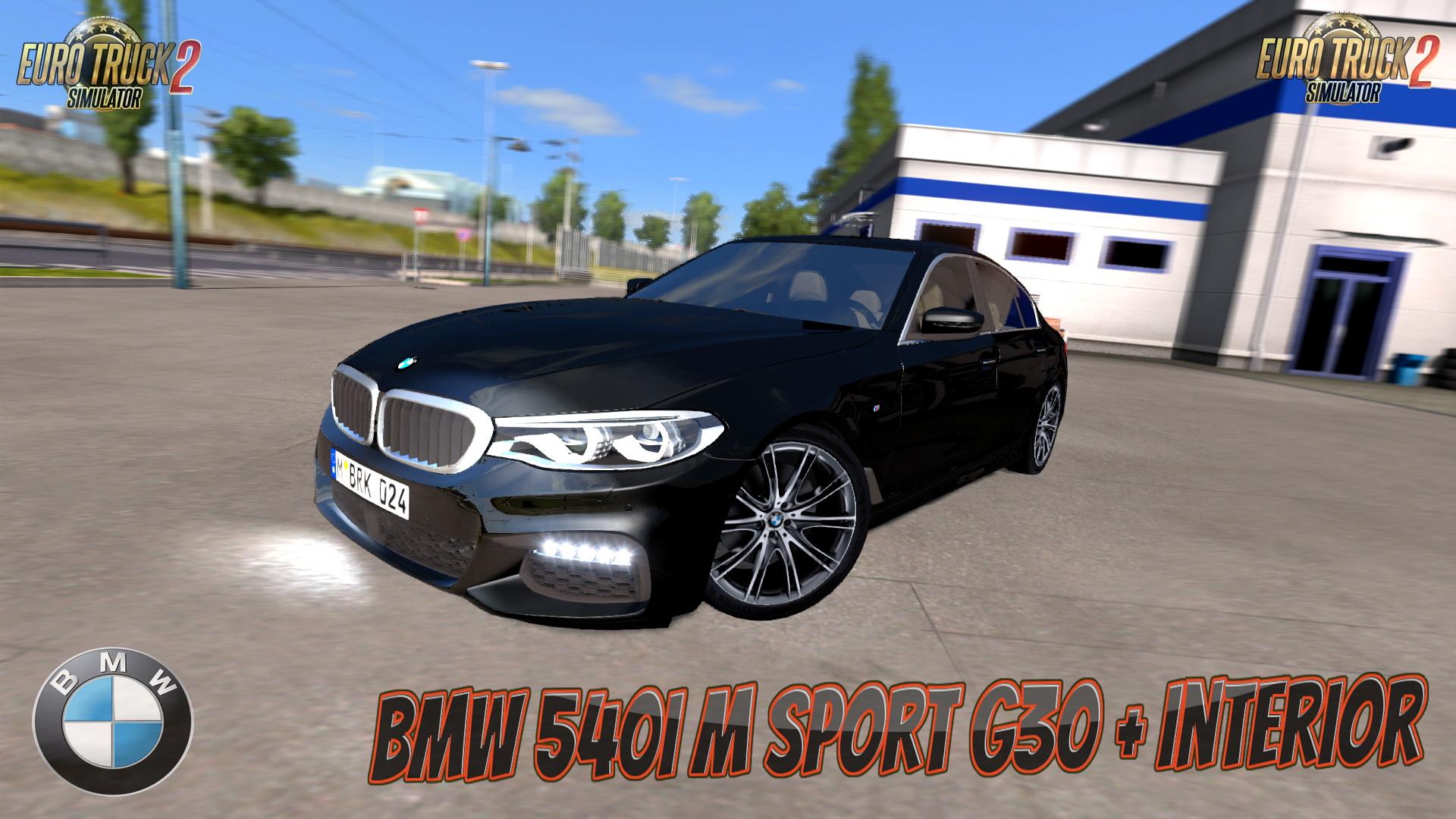 BMW 540i M Sport G30 + Interior by BurakTuna24 (1.28.x) - Euro Truck Simulator 2