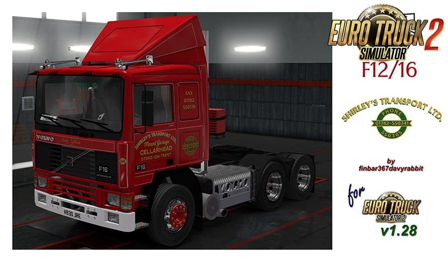Volvo F12/16 of Shirley's Transport LTD – (Volvo F Series) v1.0 (1.28.x)