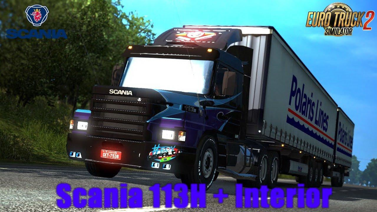 Scania 113H + Interior v4.0 (1.28.x)