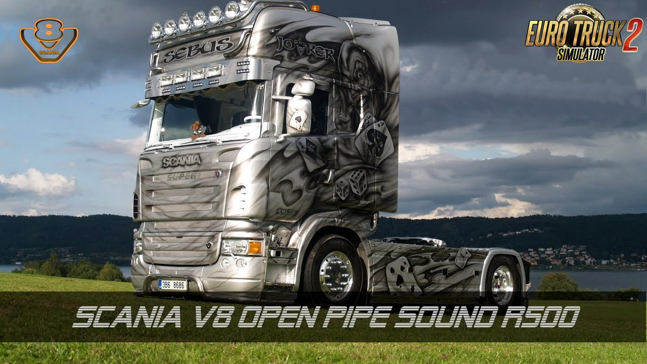 Scania V8 Open Pipe Sound R500 v1.0 (1.28.x)