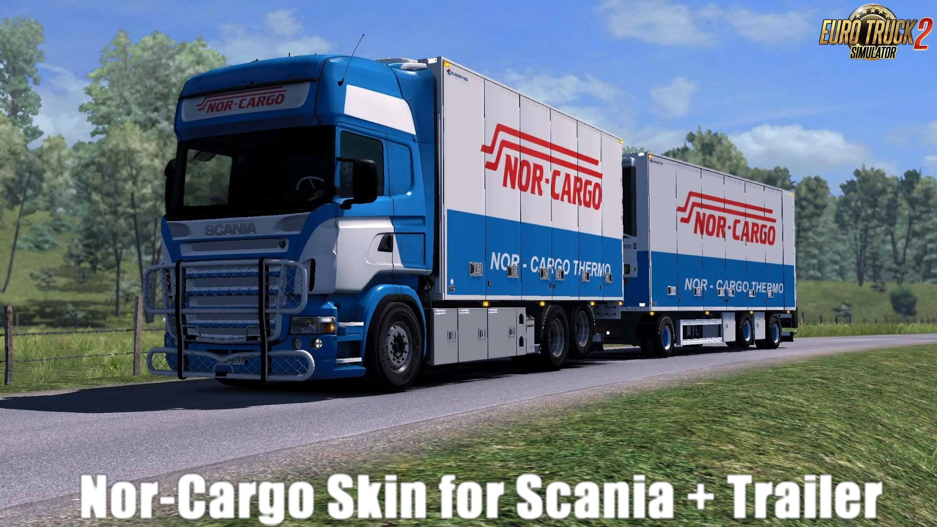 Nor-Cargo Skin for Scania + Trailer v1.0 by DavyBerto (1.28.x)
