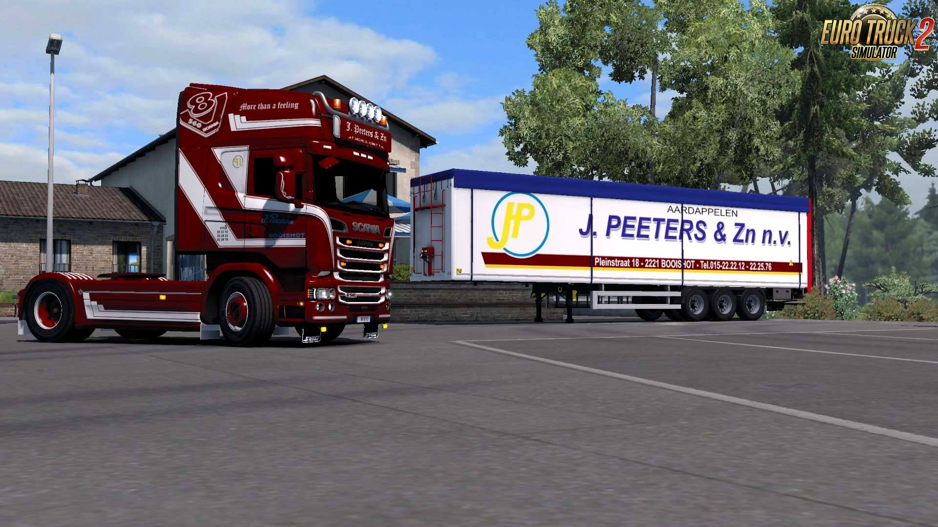 J. Peeters Combo Skin for Scania + Trailer v1.0 by DavyBerto (1.28.x)