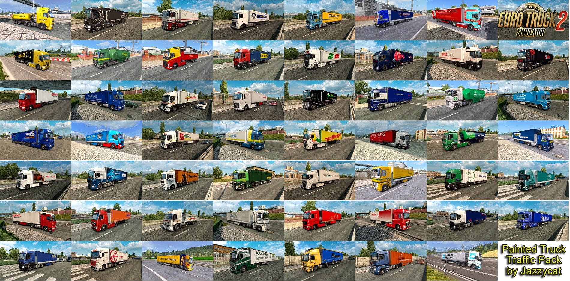 Painted Truck Traffic Pack v4.6 by Jazzycat (1.28.x)