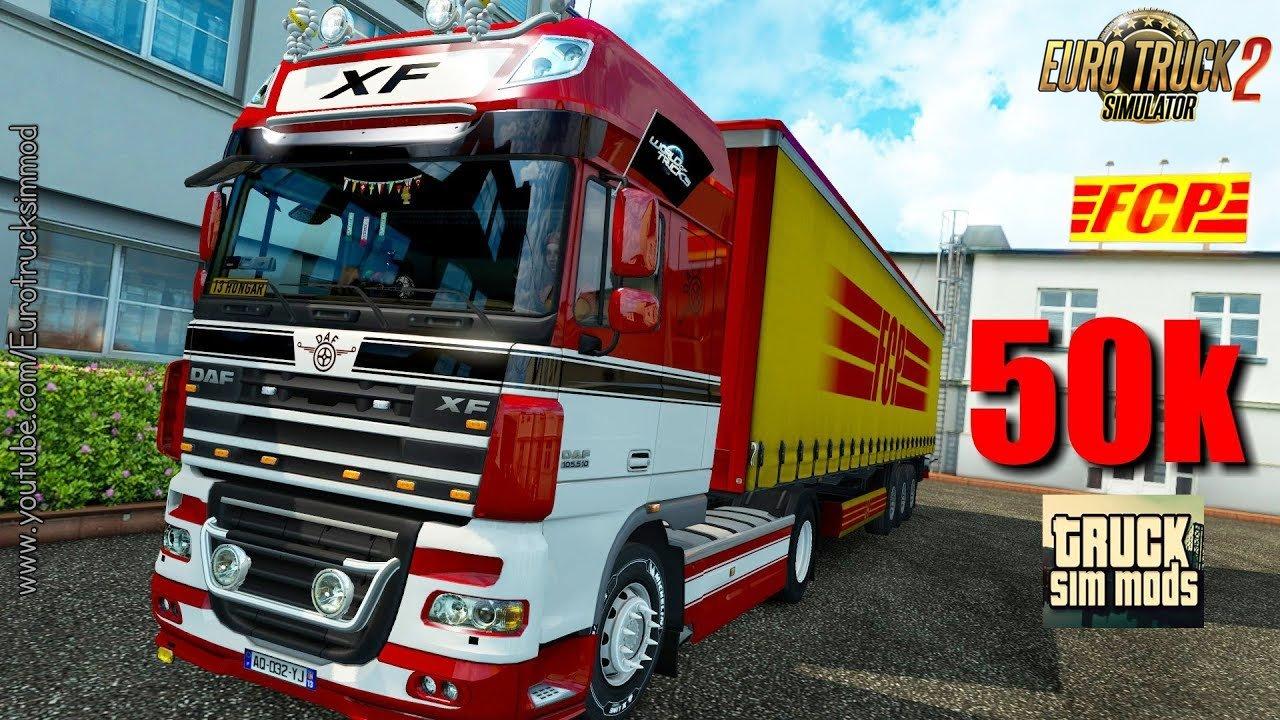 DAF XF by 50keda v4.0 (1.28.x) - Euro Truck Simulator 2