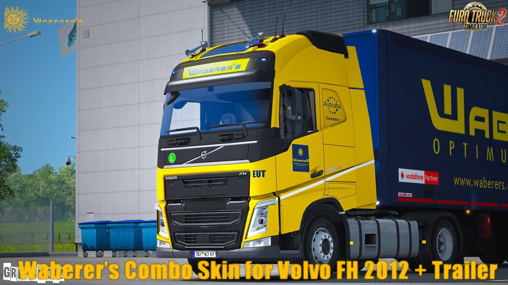 Waberer's Combo Skin for Volvo FH 2012 + Trailer Schmitz SKO v1.0 by R3APER (1.28.x)