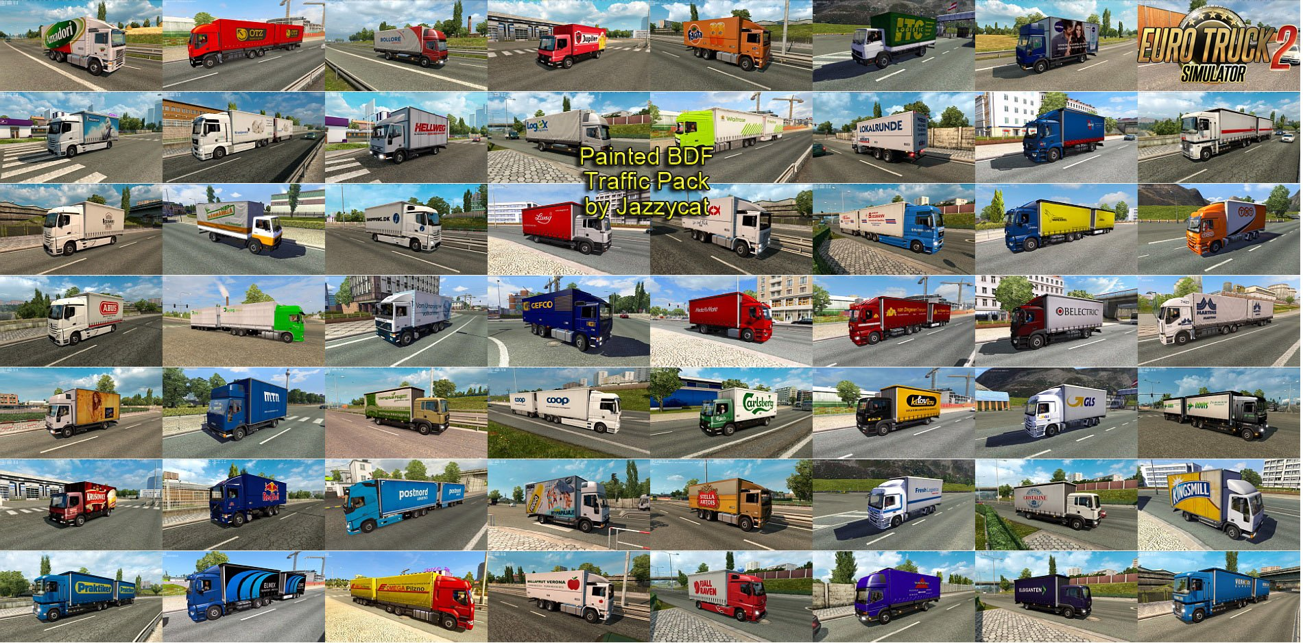 Painted BDF Traffic Pack v2.3 by Jazzycat