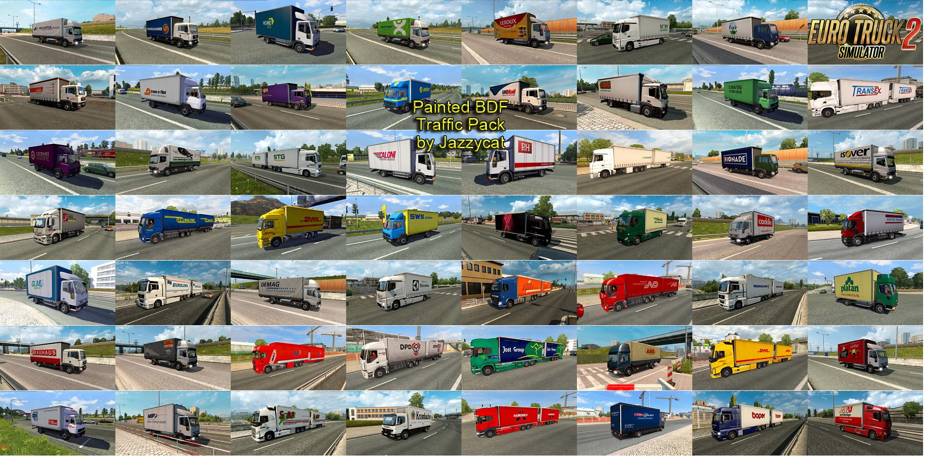 Painted BDF Traffic Pack v2.3.1 by Jazzycat (1.30.x)