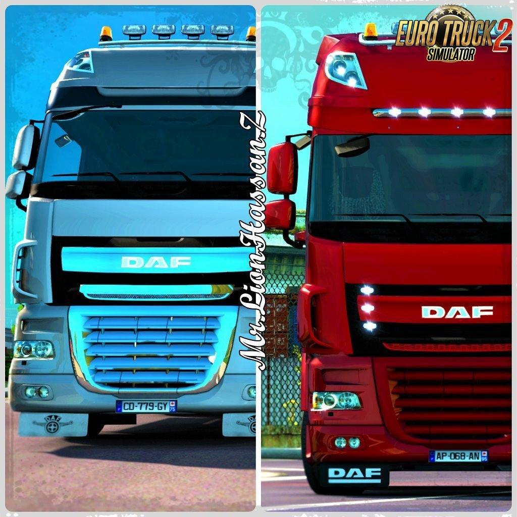 mod hybrid daf with dlc daf for ets2 mp download ets 2 mods truck mods euro truck. Black Bedroom Furniture Sets. Home Design Ideas