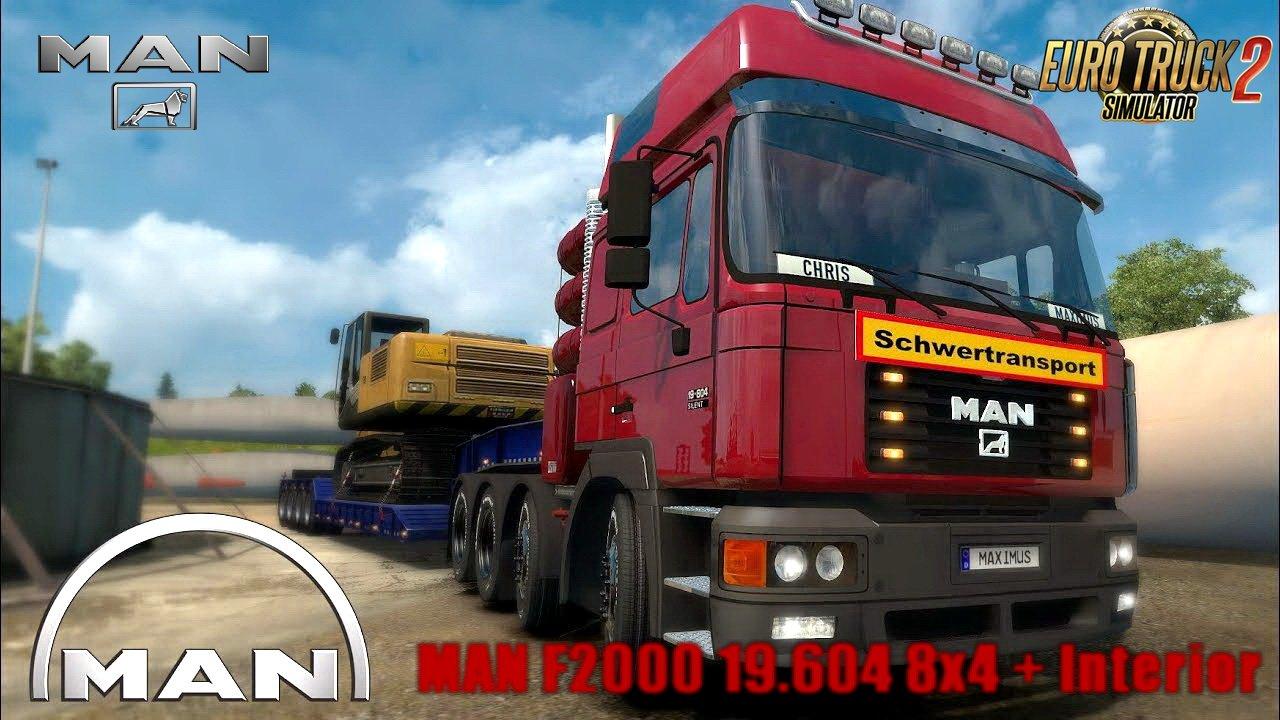 MAN F2000 19.604 8x4 + Interior v1.0.2 (1.28.x)
