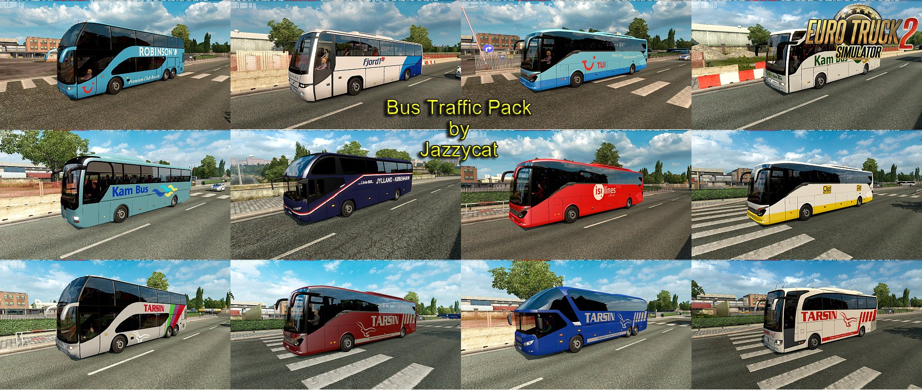 Bus Traffic Pack v2.9 by Jazzycat