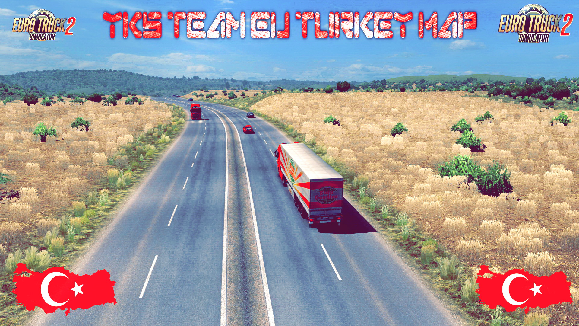 YKS Team EU Turkey Map (1.28.x) - Euro Truck Simulator 2
