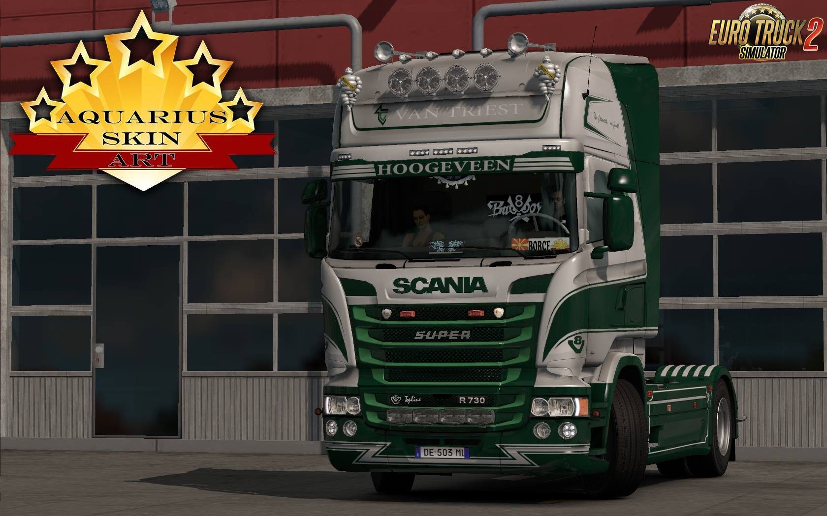 Van Triest Metalic Skin for Scania RJL v1.0 by #Borce (1.28.x)