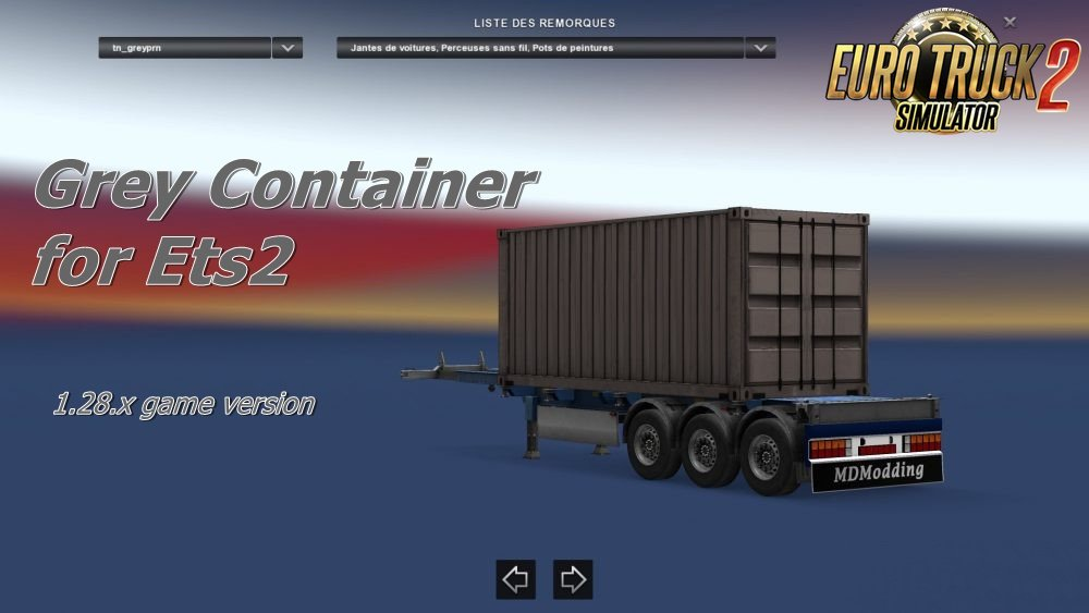 Grey Container for Ets2