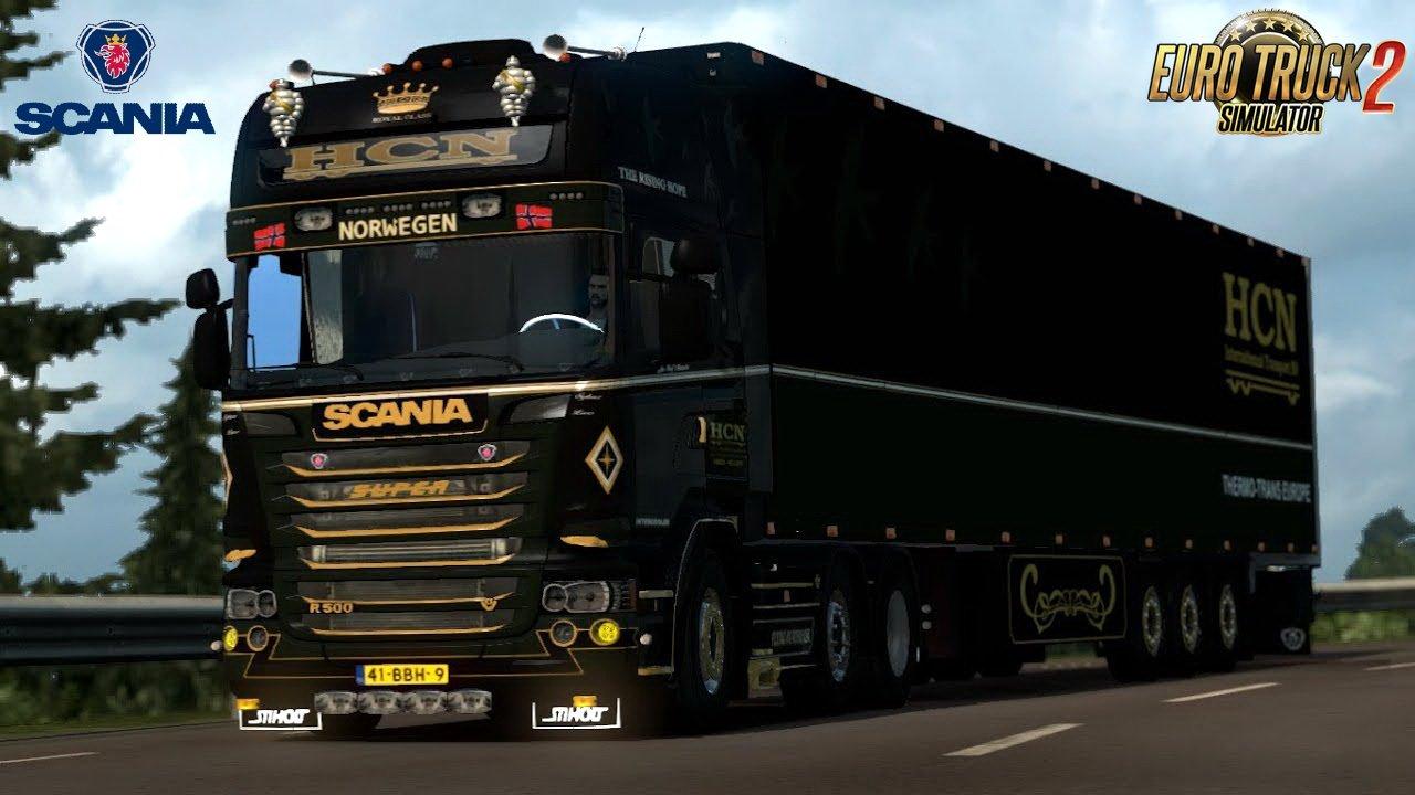 Scania R500 HCN Edition + Trailer v1.0 (1.28.x)