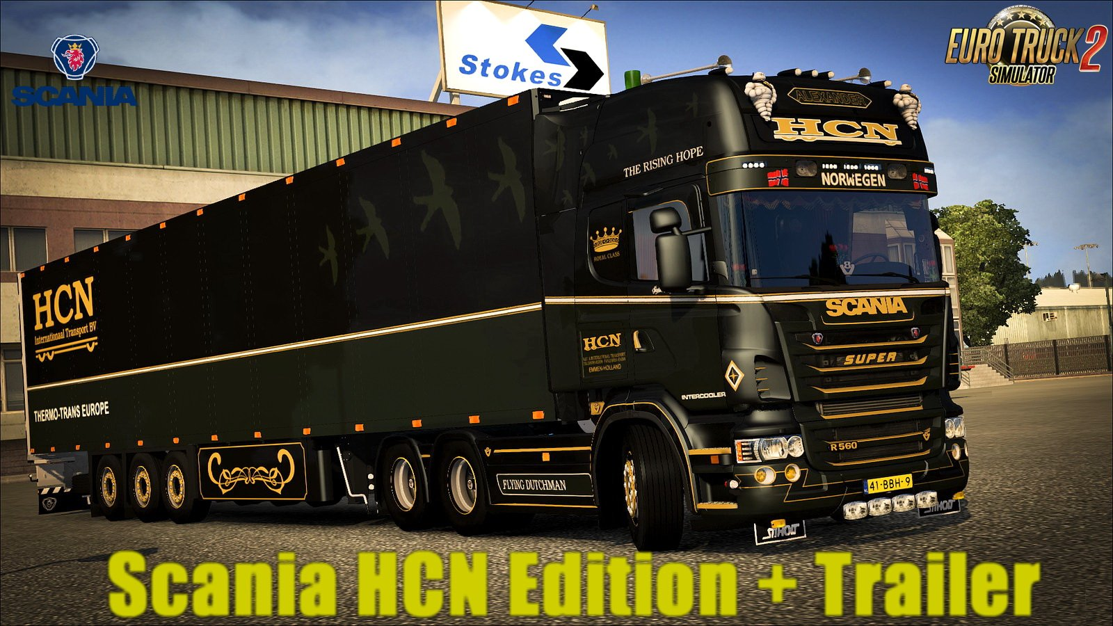 Scania R500 HCN Edition + Trailer v1.0 (1.28.x)