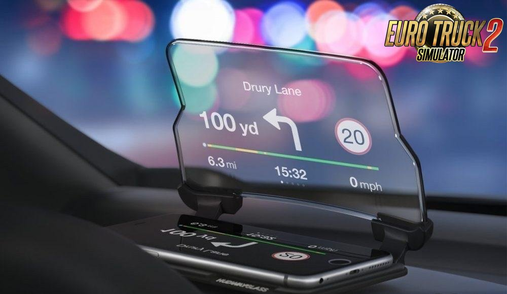 Gps on glass for Ets2