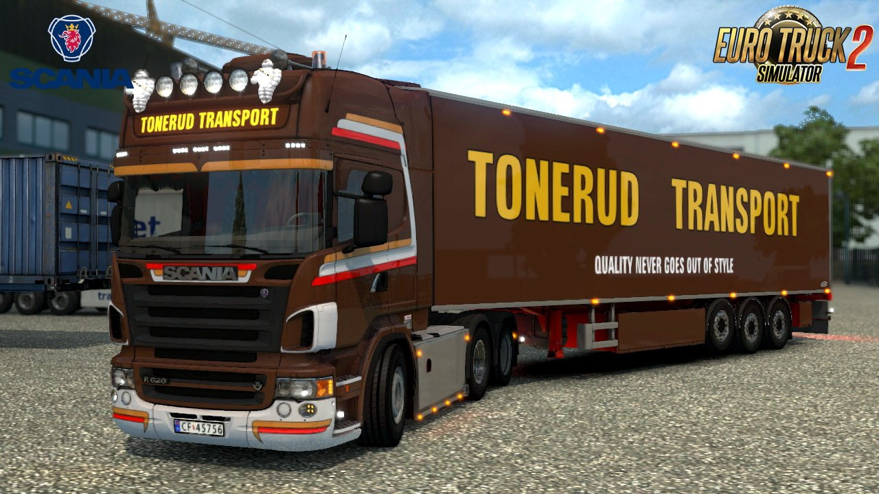 Scania R620 Tonerud Edition + Trailer v1.0 (1.28.x)