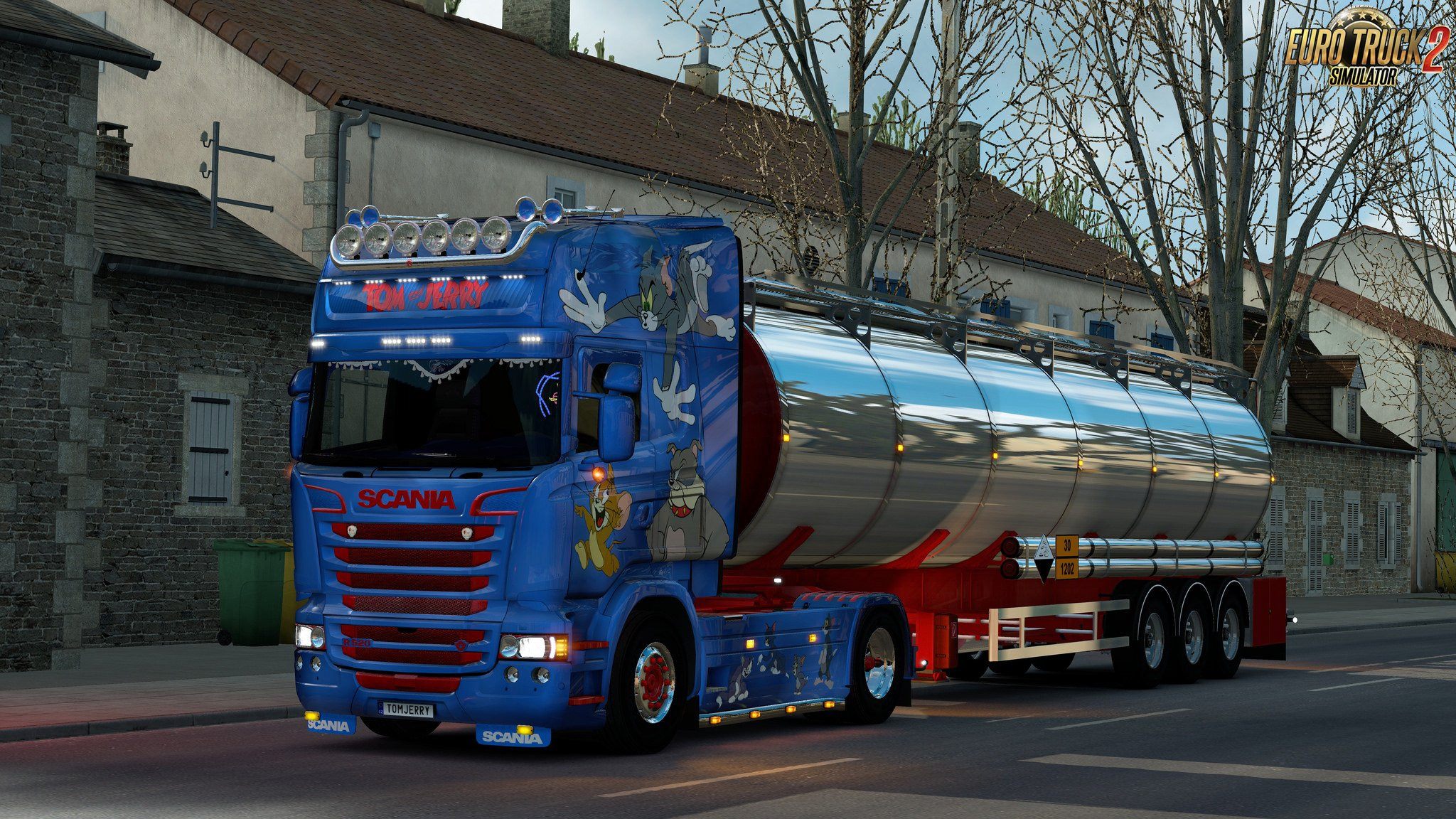 Tom and Jerry Skin for Scania RJL v1.0 by Roman71 (1.28.x)