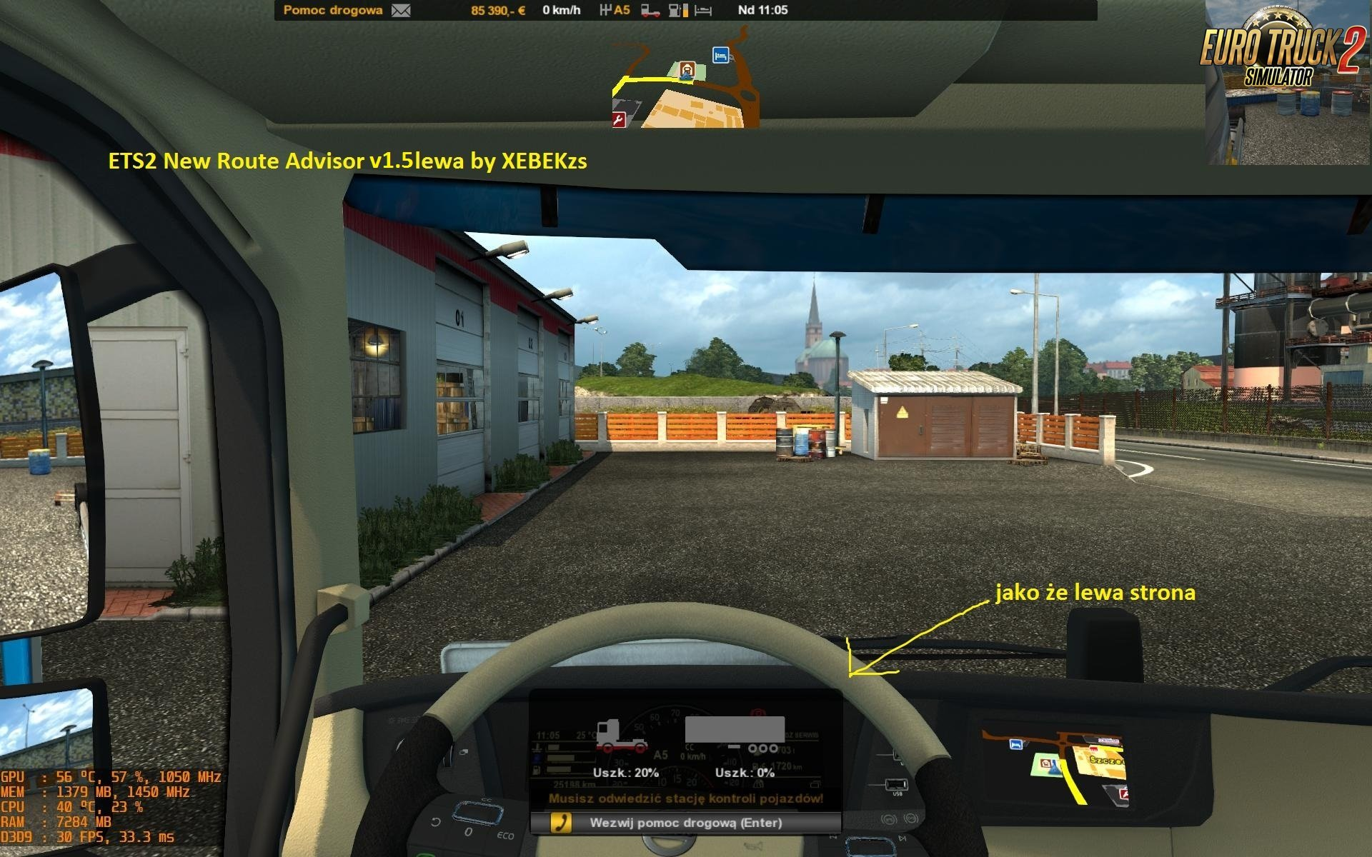 Ets2 and Ats New Route Advisor v1.5 (three versions)by XEBEKzs