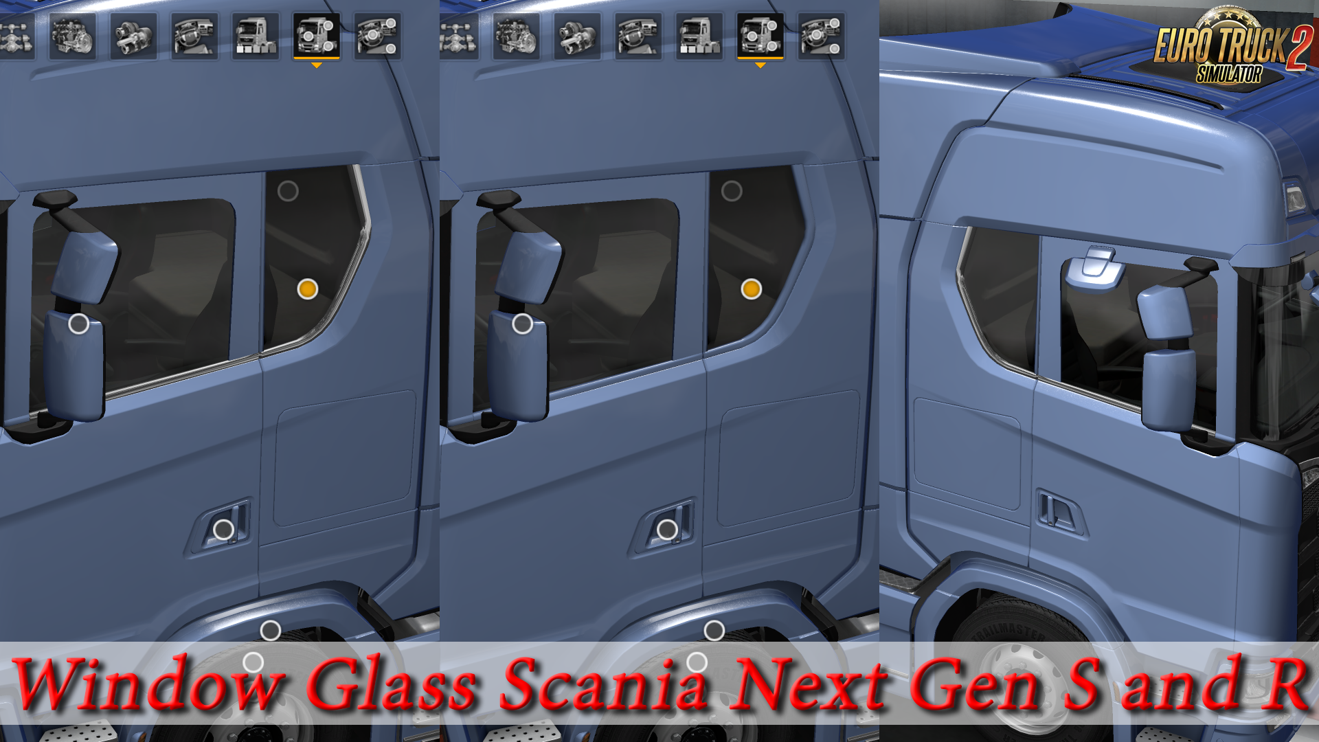 Window glass Scania Next Gen S and R [1.30]