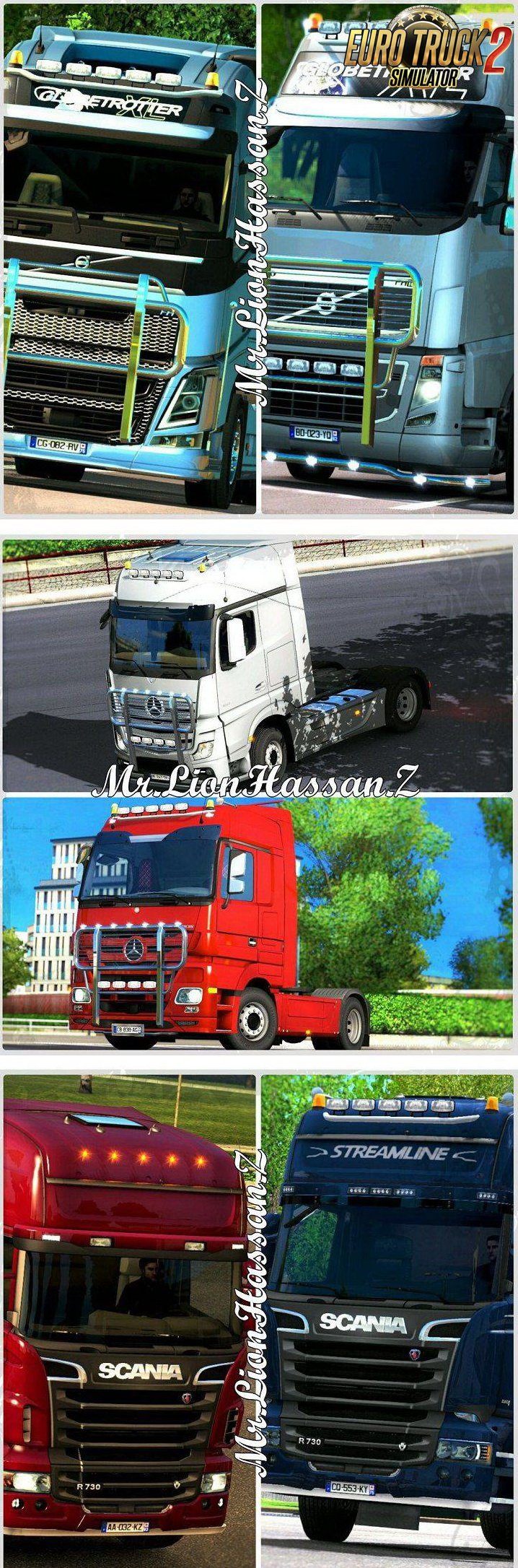 Grill And Engine 750 For ALL Trucks For Multiplayer ETS2 v1.0