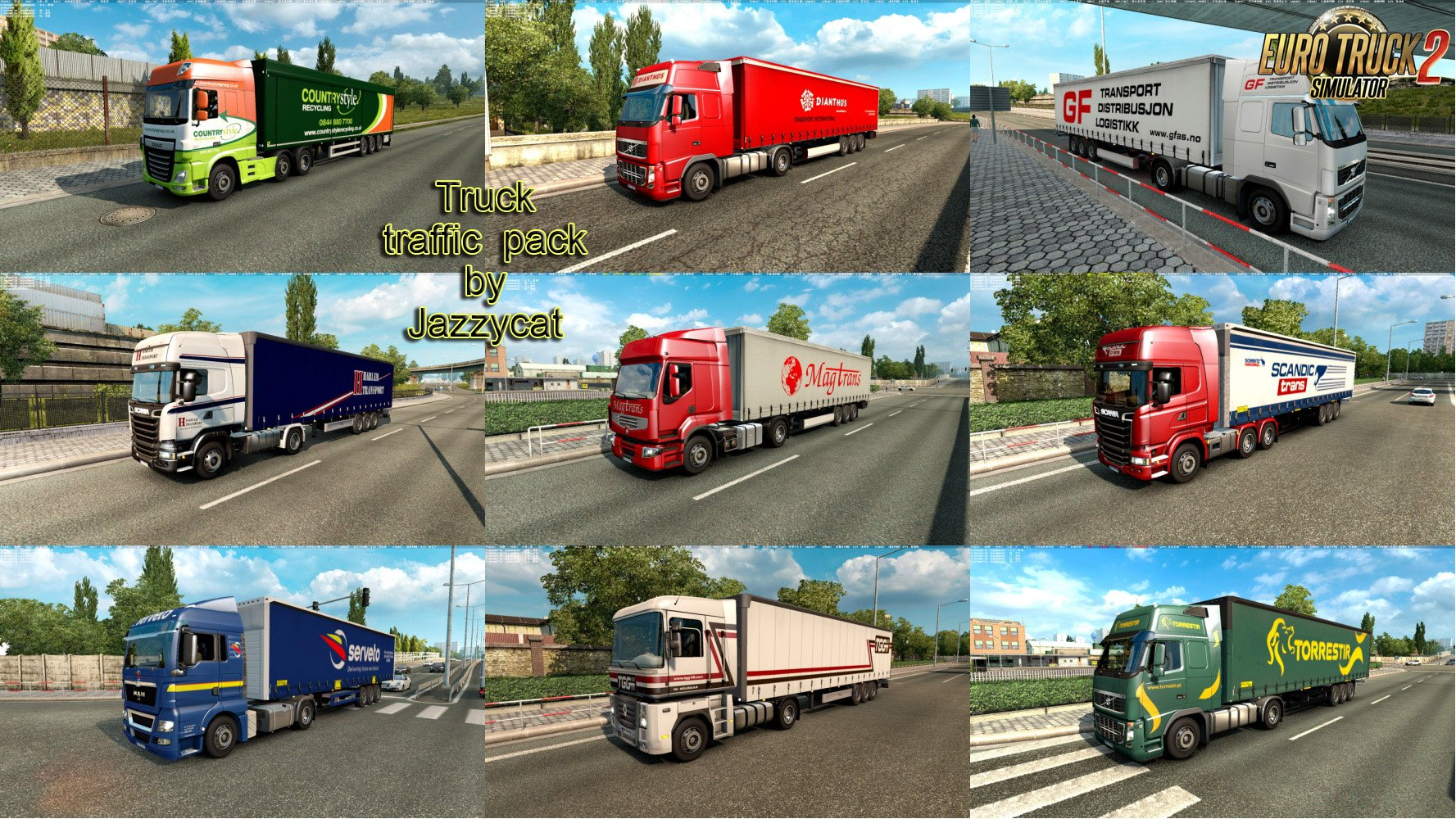 Painted Truck Traffic Pack v4.7 by Jazzycat