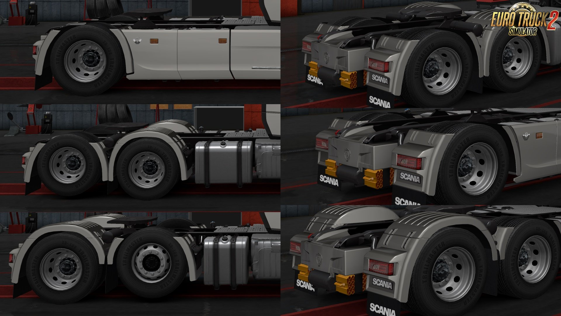 Rear Fender Paint and Plastic Cut Scania Next Gen v1.0 [1.30]