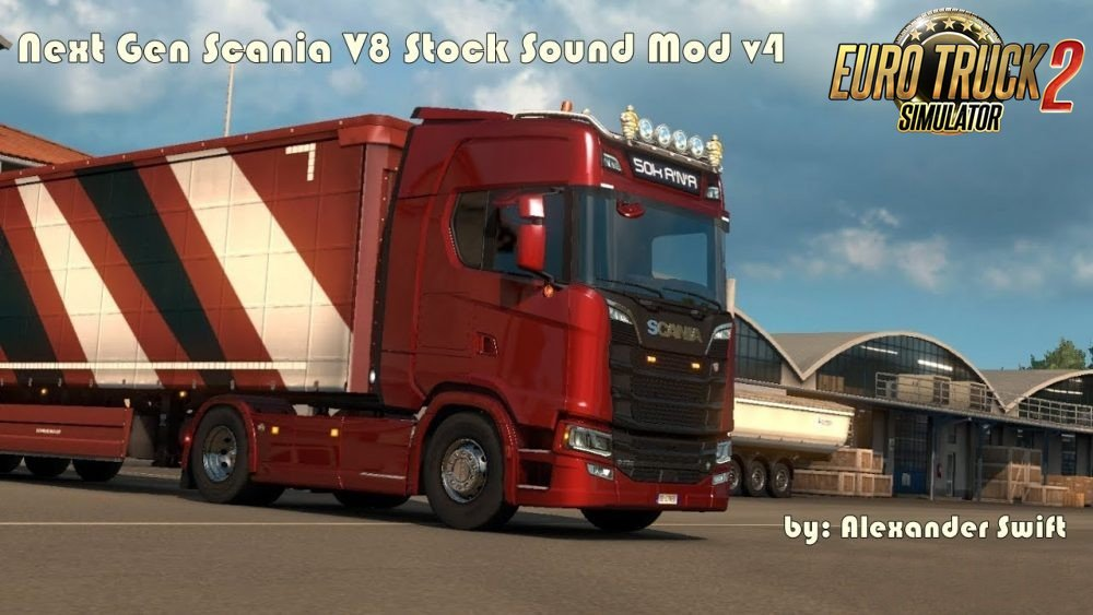 Next Gen Scania V8 Stock Sound Mod v4 [1.30]