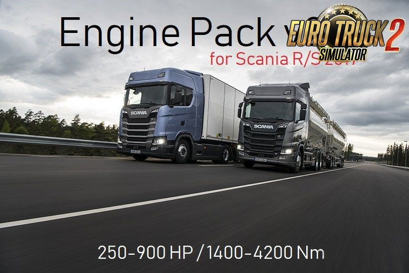 Engine Pack v2 for Scania R & S 2017 [1.30]