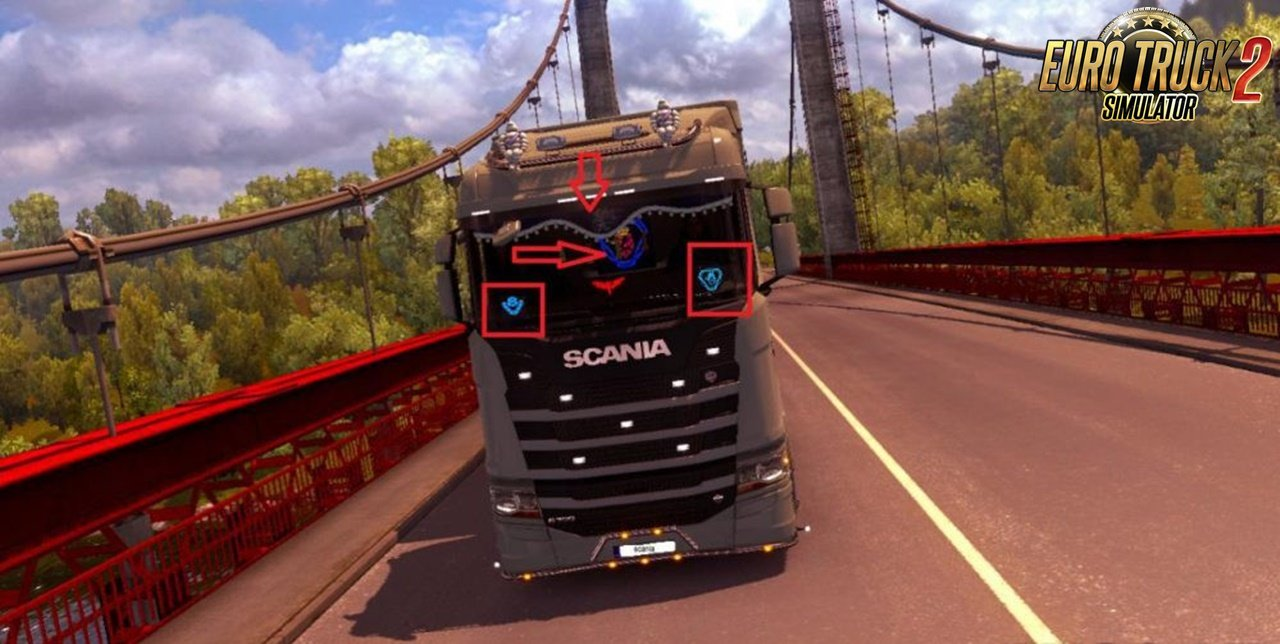 Fixed LED Plate from Scania old for Scania SR 2016 v2.0