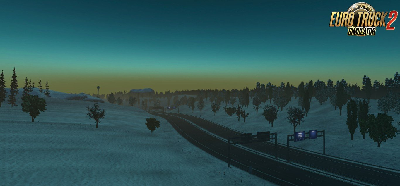Winter addon for Realistic Graphics Mod v0.8 in Ets2