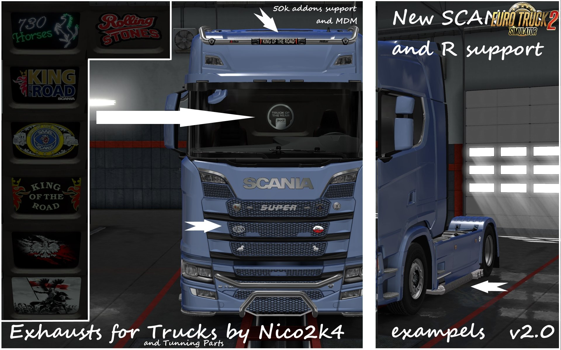 Exhausts & Tuning Parts for Trucks v2.0 by Nico2k4 [1.30.x]
