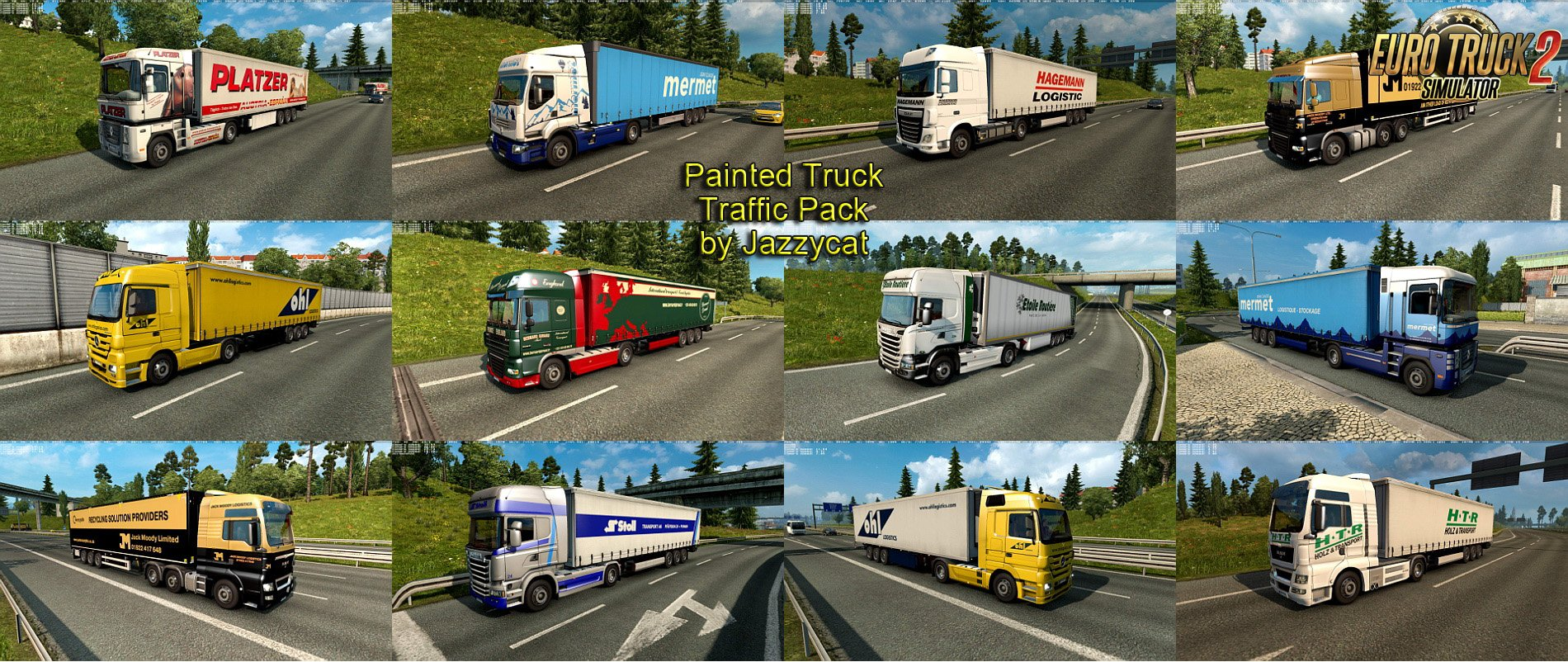 Painted Truck Traffic Pack v4.9 by Jazzycat