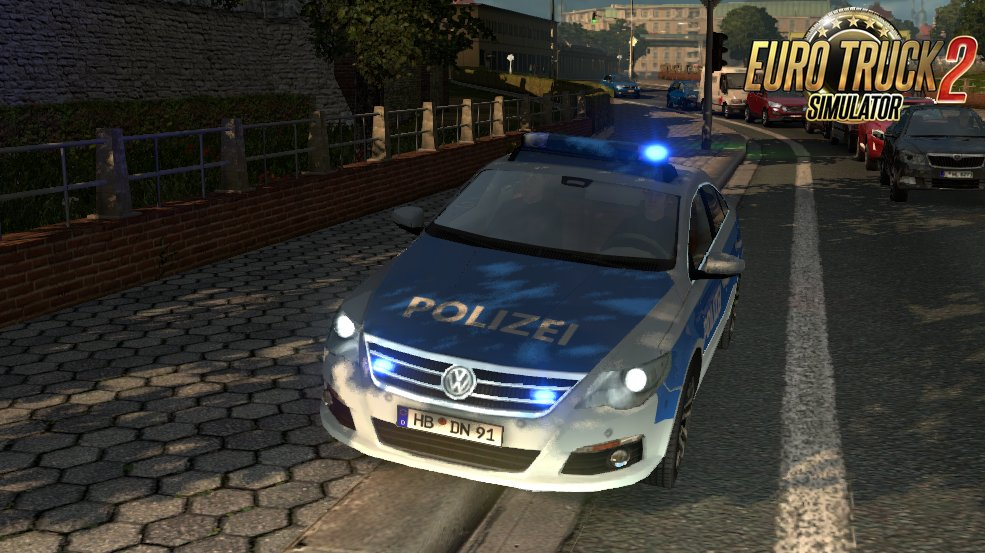 True Blue Emergency Vehicle Beacons for Ets2
