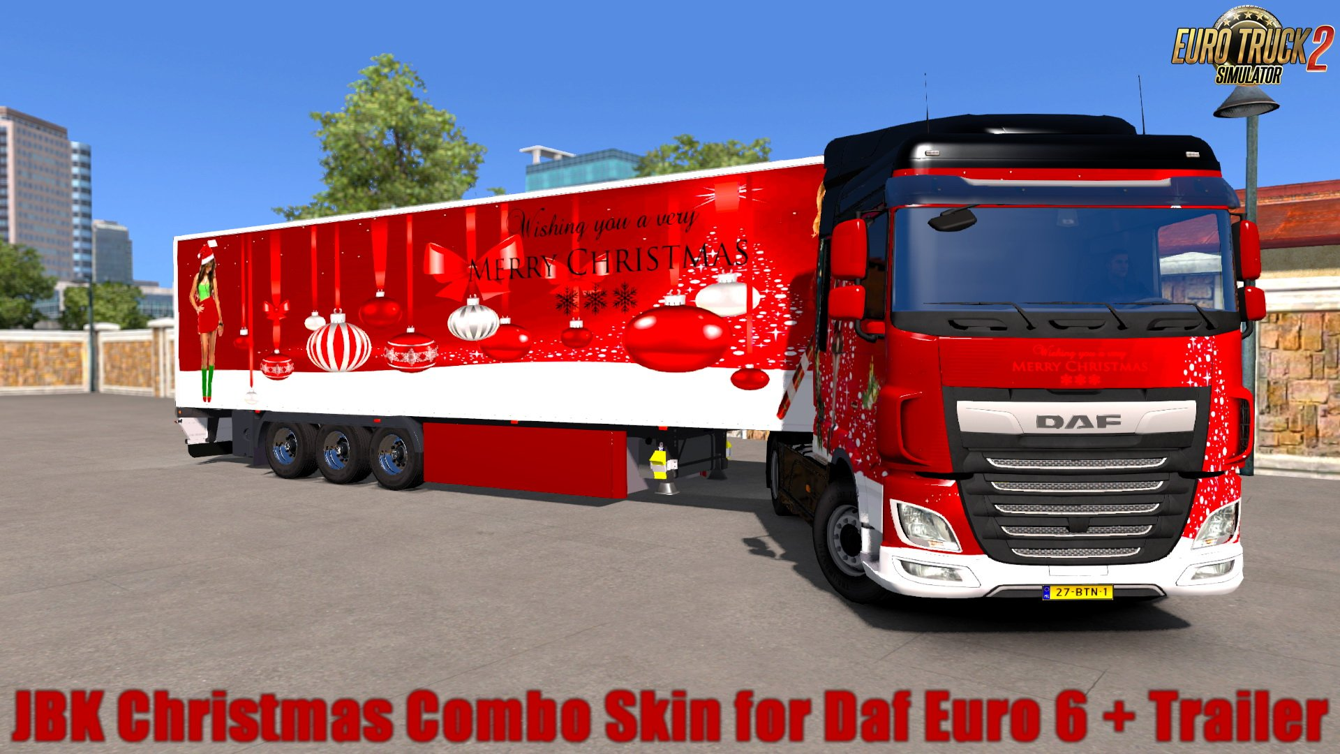 JBK Christmas Combo Skin for Daf Euro 6 + Trailer v1.0 (1.30.x)