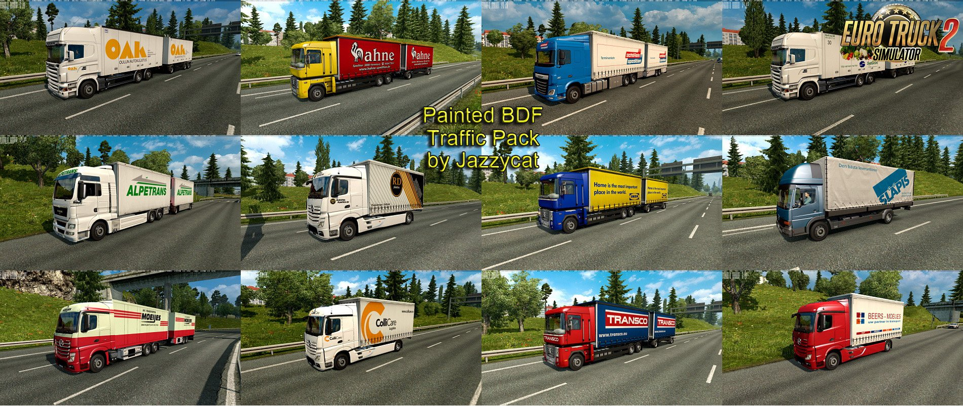 Painted BDF Traffic Pack v2.4 by Jazzycat
