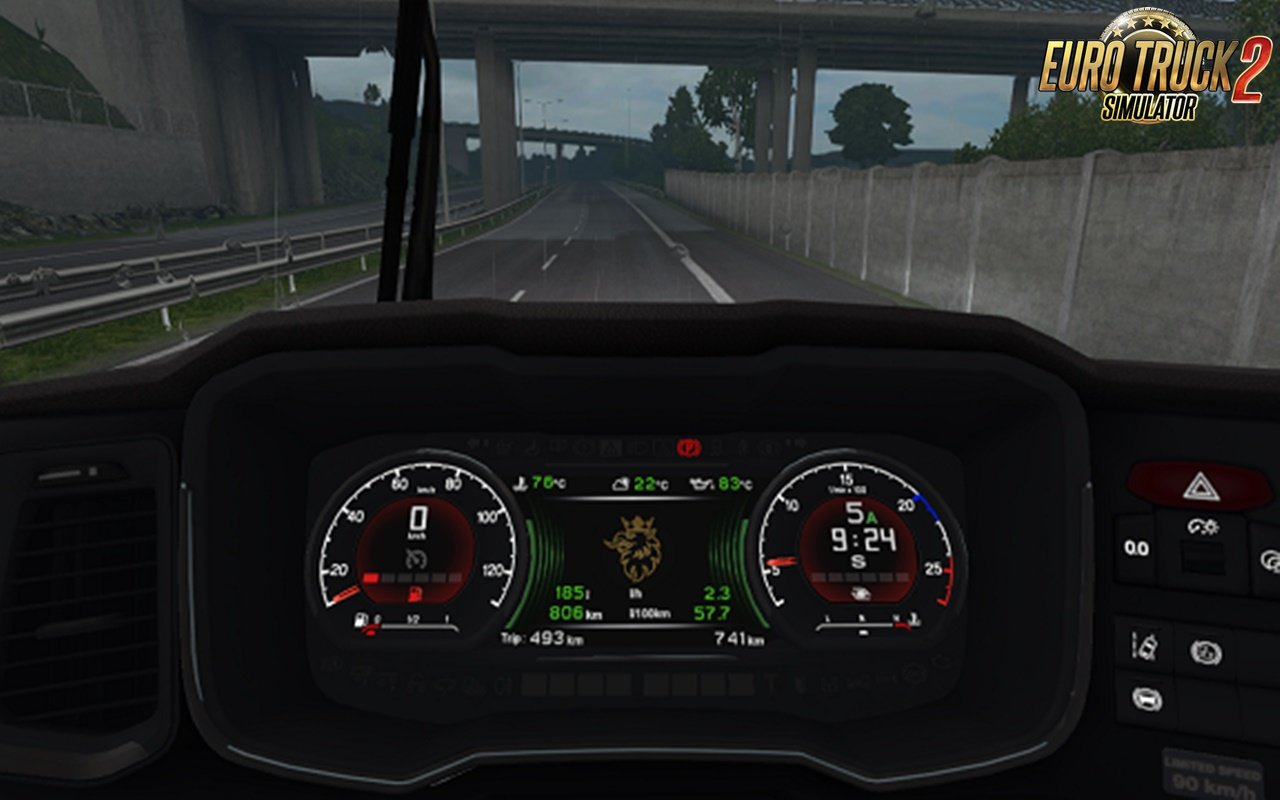 Scania S dashboard computer v1.1 and custom dashboard addon