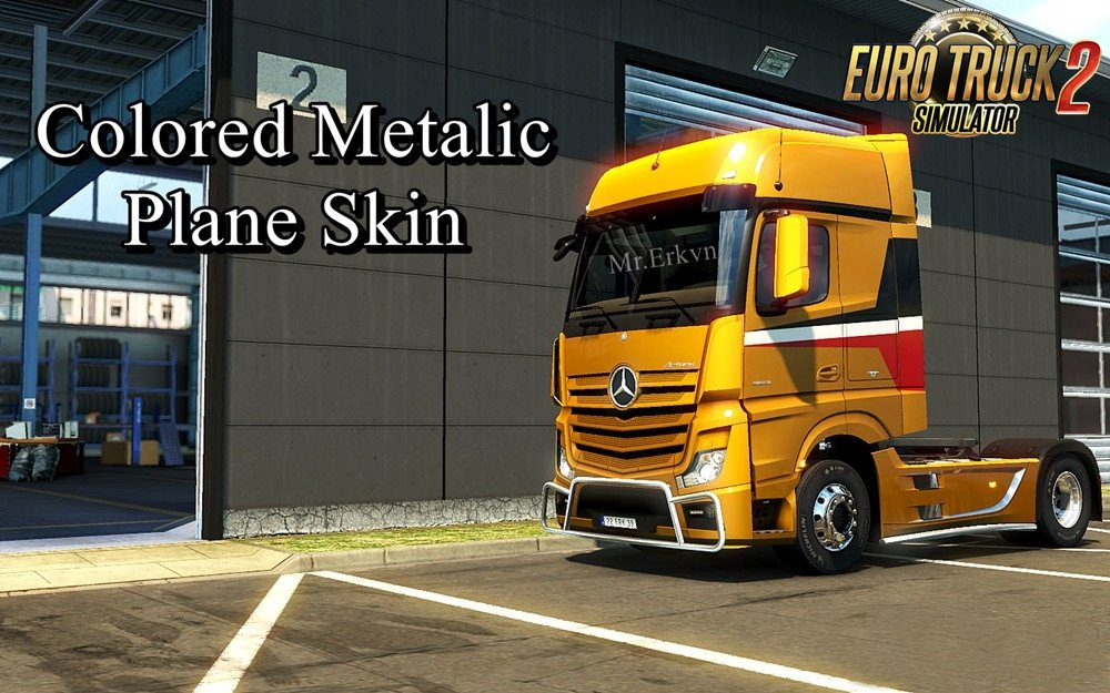 Paintable Metalic Plane Skin for Mercedes MP IV