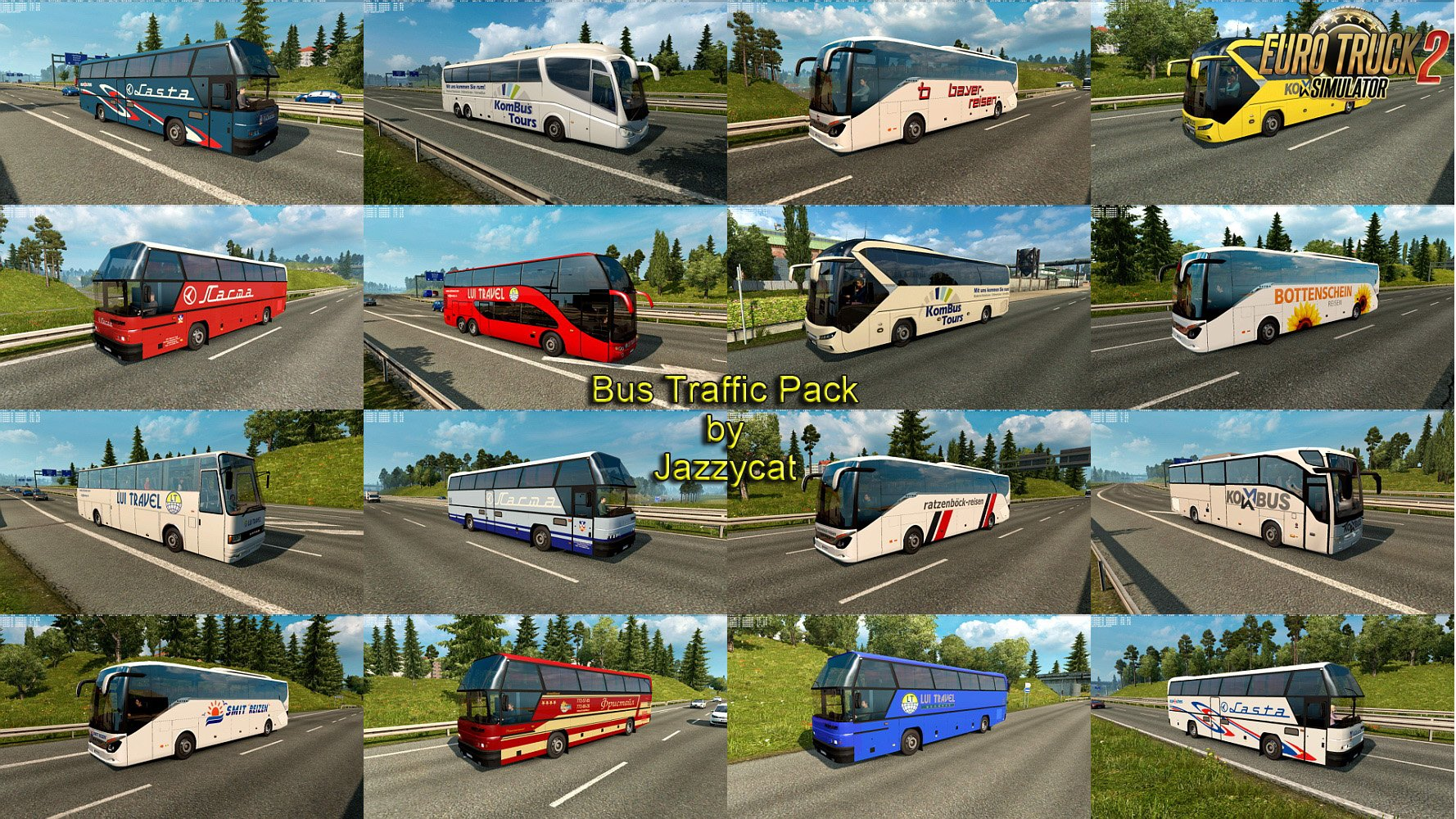 Bus Traffic Pack v3.3 by Jazzycat