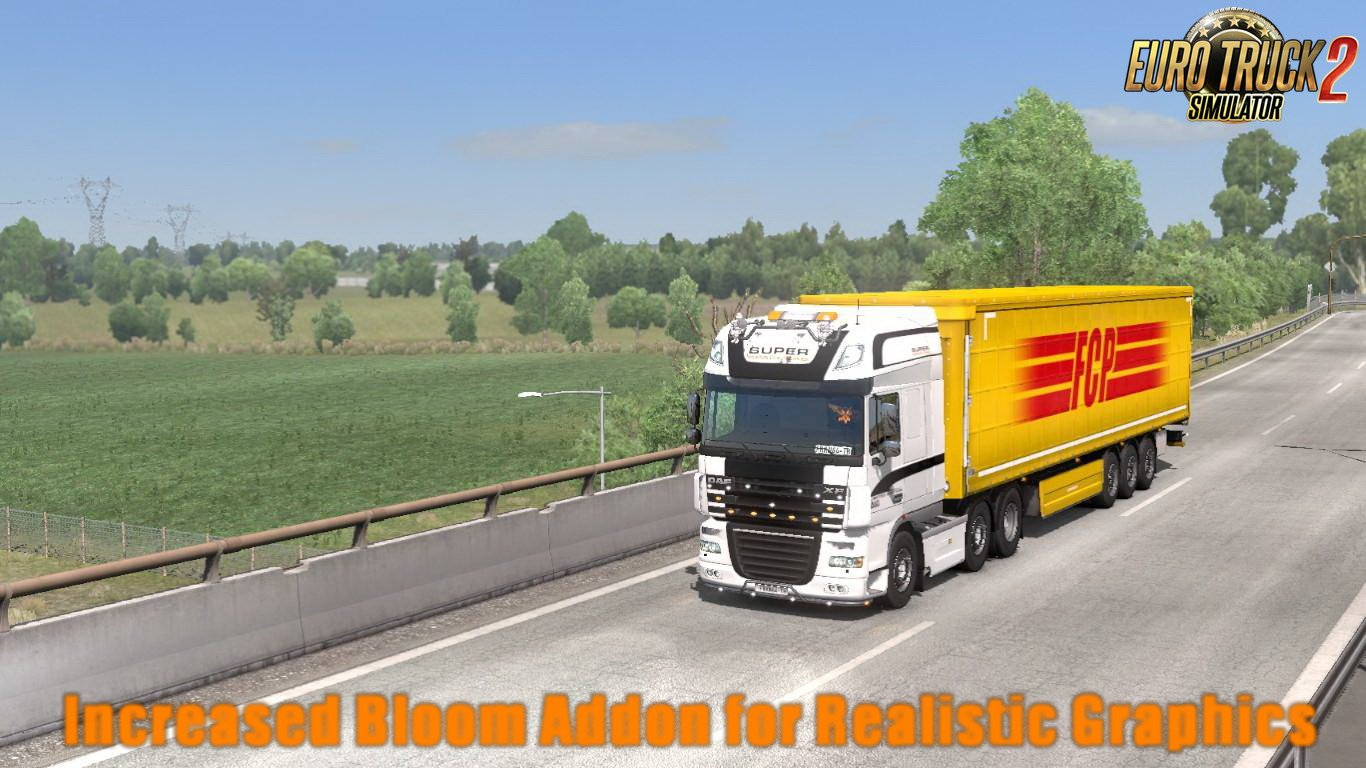 Increased Bloom Addon for Realistic Graphics Mod v1.0 (1.30.x)