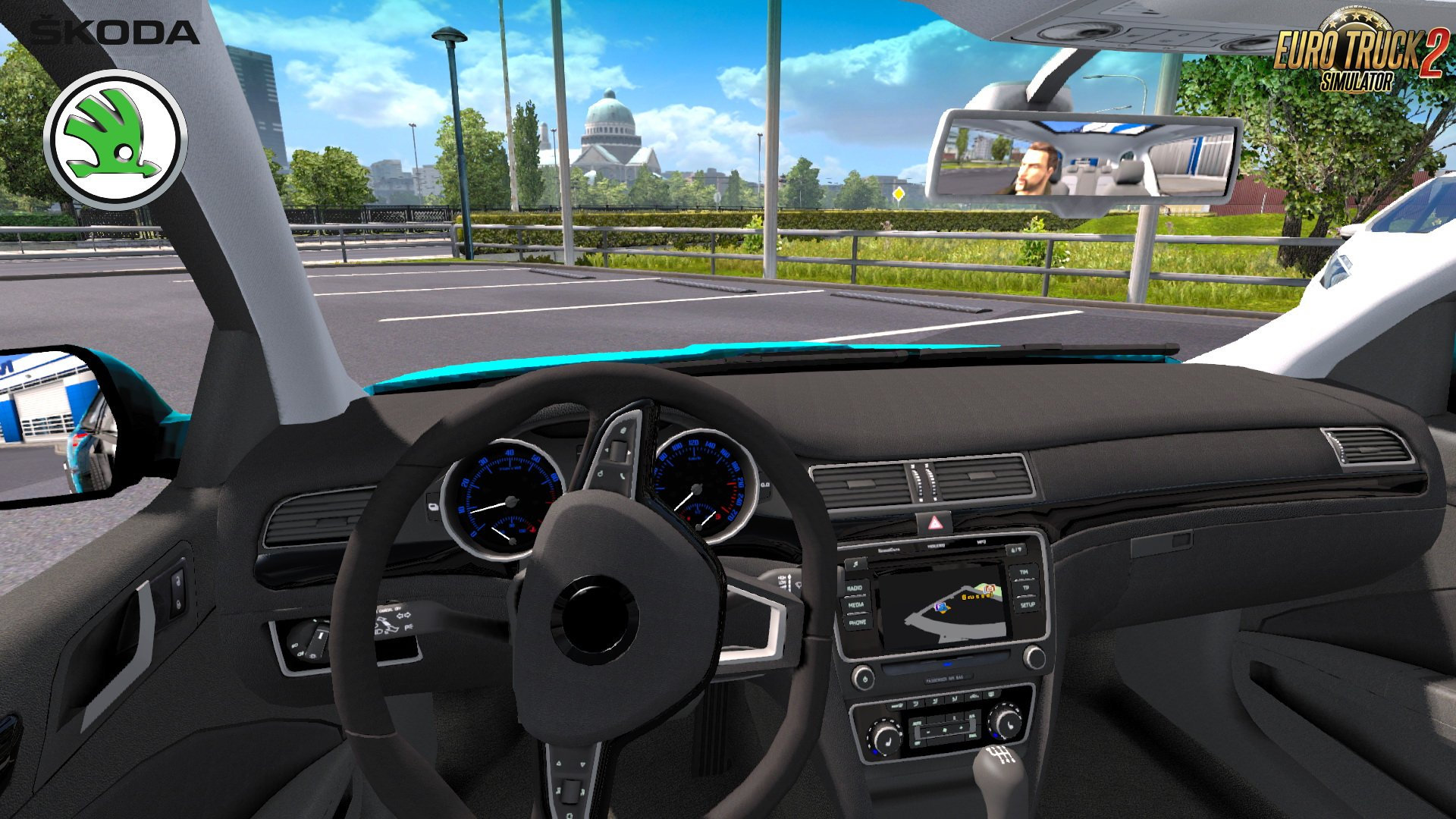 Skoda Superb V8 + Interior v1.0 (1.30.x)
