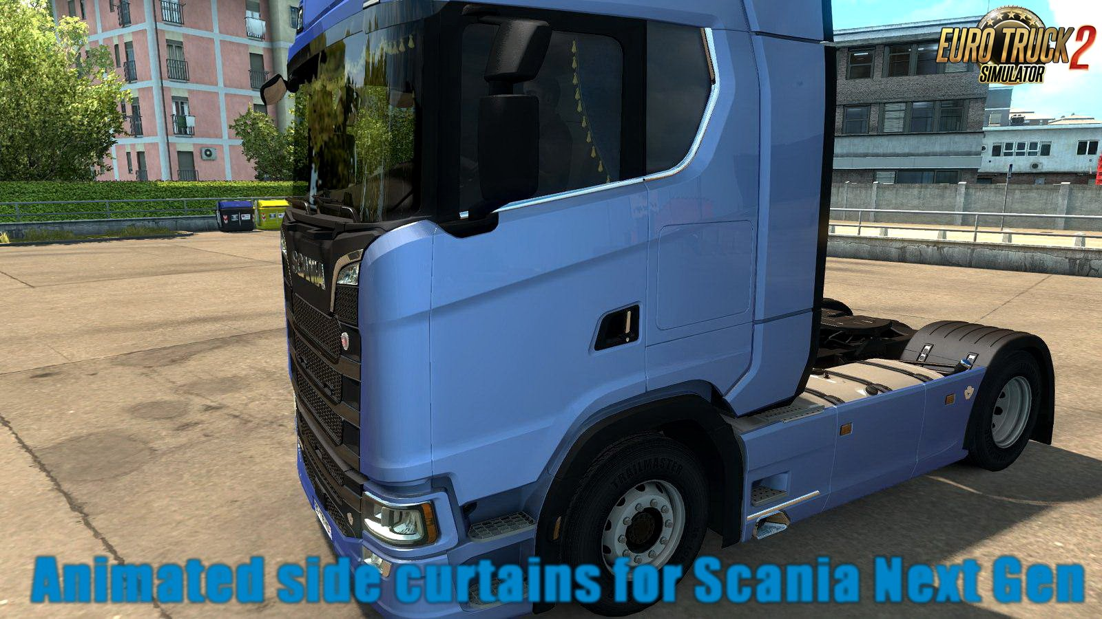 Animated side curtains for Scania Next Gen v1.0 (1.30.x)