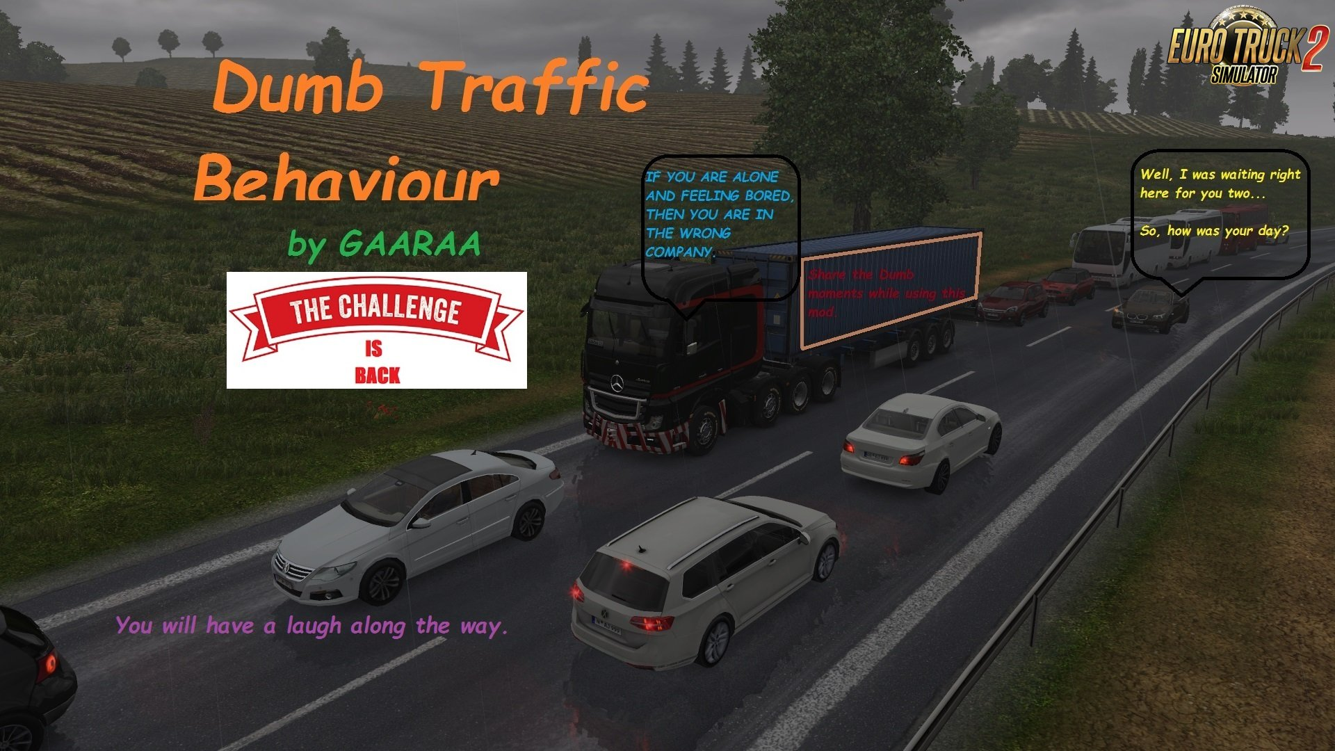 Dumb Traffic Behaviour by GAARAA 1.3